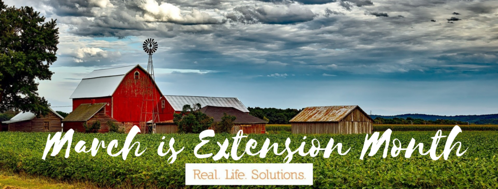 March is Extension Month